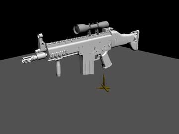 Halo Custom Edition 3D Model Files: FN SCAR-H (7 62mm) Assau