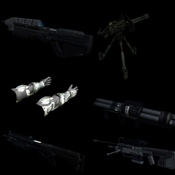 Halo Custom Edition 3D Model Files: Halo 3 Weapons 3d Max Mo