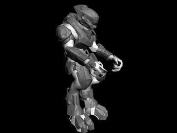 Halo Custom Edition 3D Model Files: Halo Reach Assault Rifle