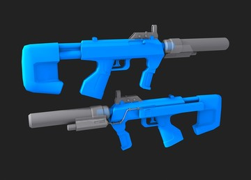 Halo Custom Edition 3D Model Files: Halo 3 SMG Model (3DS/MA