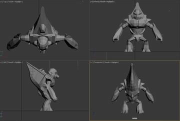Halo Custom Edition 3D Model Files: Halogrunt Model (fbx)