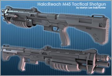 Halo Custom Edition 3D Model Files: M45 Tactical Shotgun Mod