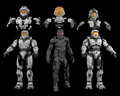 Halo 3 Beta Spartans Models (3DS/MAX/OBJ)