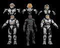 Halo 3 Beta Spartans Models (3DS/MAX/OBJ)